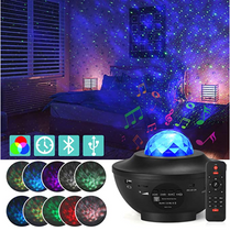 Load image into Gallery viewer, 21 Lighting Modes Projector Night Light Music Player