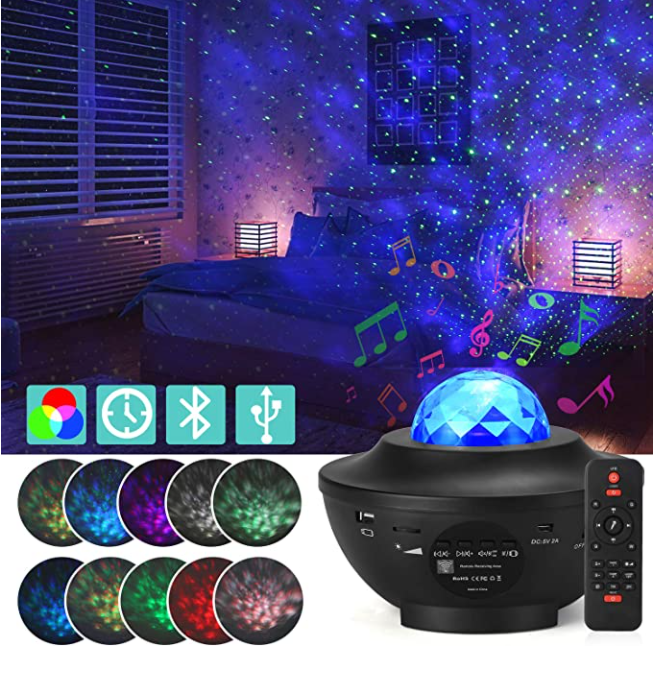 21 Lighting Modes Projector Night Light Music Player