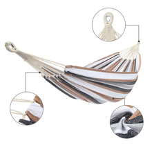 Load image into Gallery viewer, 150-200CM Portable Polyester & Cotton Hammock