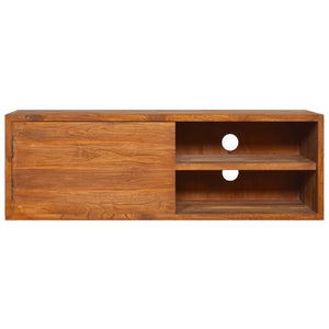 "vidaXL Wall-Mounted TV Cabinet 35.4""x11.8""x11.8"" Solid Teak Wood"