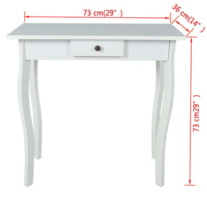 MDF White Console Table