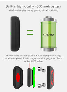 CYBORIS 4500mAh USB Wireless Power Bank Charger(Delivered In 3 Weeks)