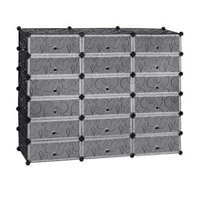Load image into Gallery viewer, 6-Tier 18 Cubes Shoe Rack Organizer w/ Doors