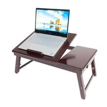 Load image into Gallery viewer, Adjustable 100% Bamboo Foldable Laptop Desk