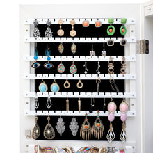 Load image into Gallery viewer, Fashion Jewelry Mirrored White Cabinet With LED Lights