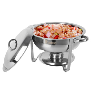 5L-1 Single Pot One Set Stainless Steel Round Buffet Stove