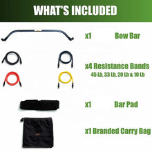 Load image into Gallery viewer, Portable Stretch Bow Home Gym Resistance Bands and Bar System