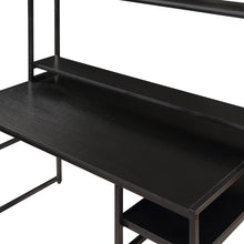 "Load image into Gallery viewer, 47.2'X23.6""X56.7"" Computer Desk With 2-Tier Bookshelf &Monitor Riser"