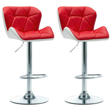 Load image into Gallery viewer, Bar Stools 2 pcs Red Faux Leather