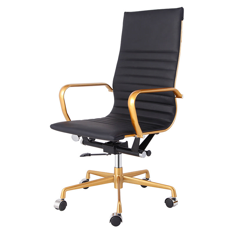High Wear Resistance High Back PU Leather Swivel Chair
