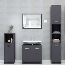"Load image into Gallery viewer, Chipboard Bathroom Cabinet Gray 11.8""x11.8""x37.4"""
