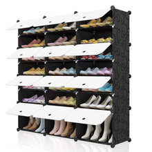 Load image into Gallery viewer, 7 -Tier Portable Shoe Rack Organizer Cabinet Stand