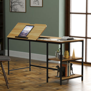 Multi-Function 55'' Drawing Table w/ Adjustable Tiltable Tabletop