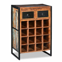 "Load image into Gallery viewer, Wine Rack For 16 Bottles Solid Reclaimed Wood 21.2""X13.7""X31.4"""