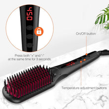 Load image into Gallery viewer, MiroPure Hair Straightener Brush