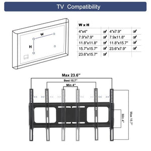 Universal Tempered Glass Metal Frame 3-Layer TV Stand for 32~65 Inch TV