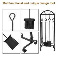 Load image into Gallery viewer, 5 PCS Wrought Iron Indoor/ Outdoor Toolset W/ Decor Holder Stand