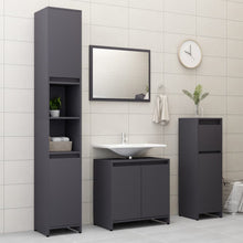 "Load image into Gallery viewer, Chipboard Bathroom Cabinet Gray 23.6""x13""x22.8"""