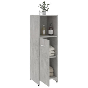 "Chipboard Bathroom Cabinet Concrete Gray 11.8""x11.8""x37.4"""