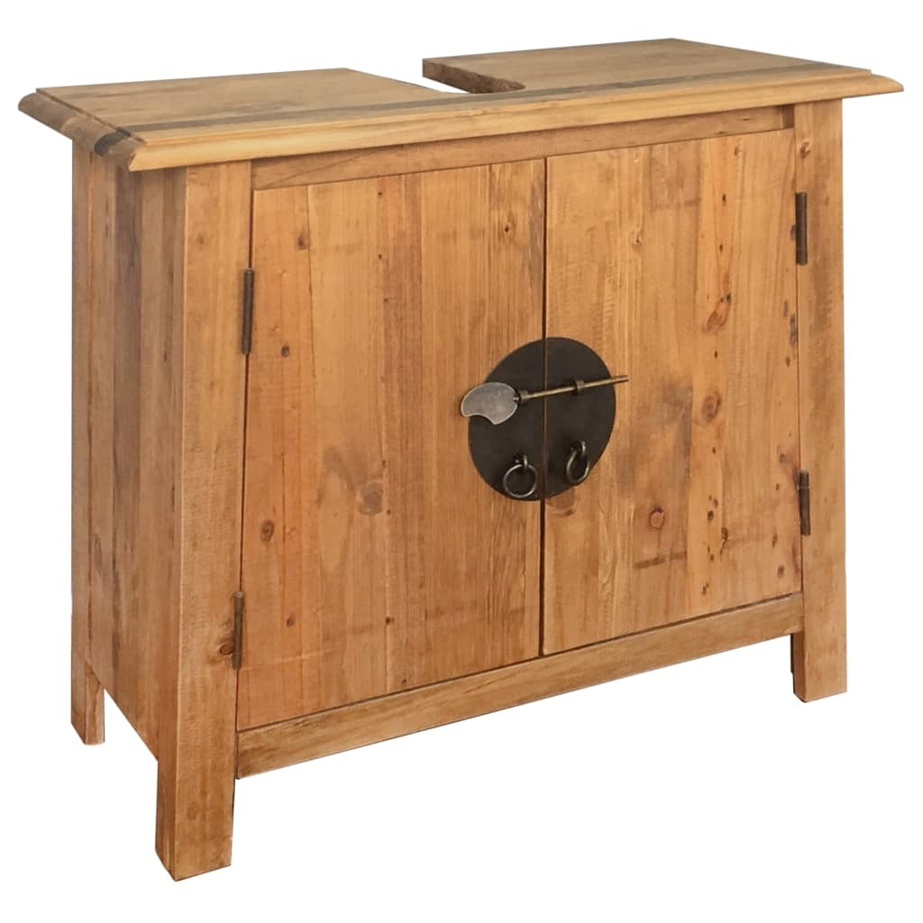 Recycled Pinewood Bathroom Vanity Cabinet
