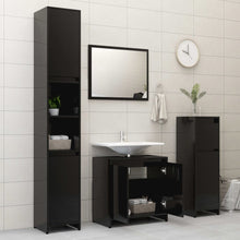 "Load image into Gallery viewer, Chipboard Bathroom Cabinet Black 23.6""x13""x22.8"" Chipboard"