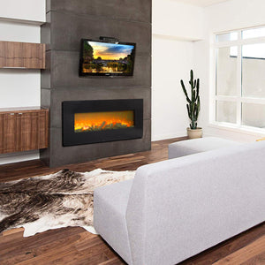 "42"" 1400W Wall Fireplace/Fake Wood / Heating Wire /Remote Control"
