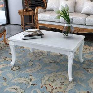 "Coffee Table 39.4""x23.6""x16.5"" High Gloss White"