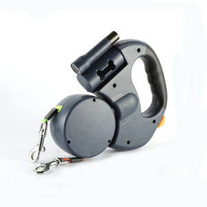 Pet Retractable Double Leash  With Light