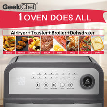 Load image into Gallery viewer, Geek Chef 16-In-1 Air Fryer Oven 13QT Capacity W/ Rotisserie & Dehydrator
