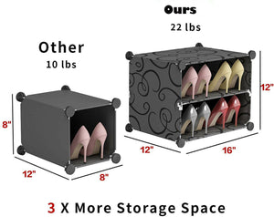 7 -Tier Portable Shoe Rack Organizer Cabinet Stand