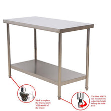 "Load image into Gallery viewer, Multiuse 24""X36"" Stainless Steel Working Table"
