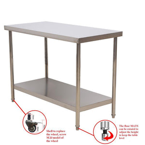 "Multiuse 24""X36"" Stainless Steel Working Table"