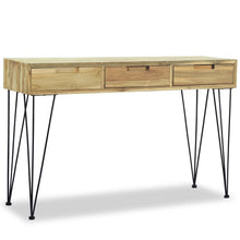 "Load image into Gallery viewer, Solid Teak Console Table 47.2""x13.8""x29.9"""