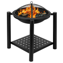 "Load image into Gallery viewer, 22"" Four Feet Iron Brazier Decorative Wood Burning Pit"