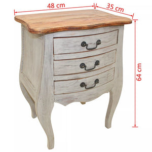 "Bedside Cabinet Solid Reclaimed Wood 18.9""x13.8""x25.2"""