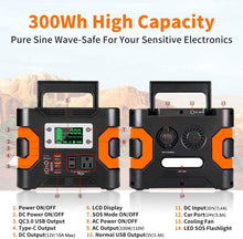 Load image into Gallery viewer, 330W/300Wh 8100mAh Flashfish Portable Power Station