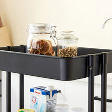 Load image into Gallery viewer, 3-Tier Kitchen Storage Utility Metal Cart