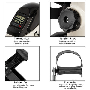 Mini Portable Arm/Leg Exercise Bike With LCD Display