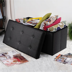 "30"" Folding Storage Ottoman Bench"