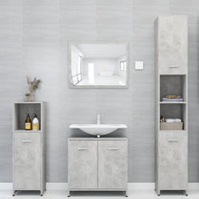 "Load image into Gallery viewer, Chipboard Bathroom Cabinet Concrete Gray 11.8""x11.8""x37.4"""