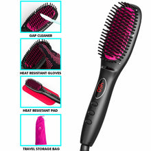 Load image into Gallery viewer, MiroPure Hair Straightener Brush with Ionic Generator