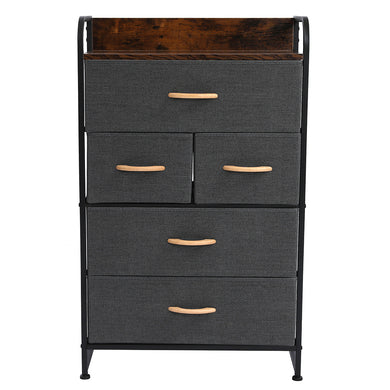 5-Drawer Dresser 4-Tier Storage Organizer