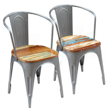 "Load image into Gallery viewer, Dining Chairs 2 pcs Solid Reclaimed Wood 20""x 20.5""X 31.5""/ Seat width: 17"""