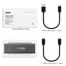 Load image into Gallery viewer, KESU 128GB External SSD Portable Solid State Drive