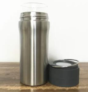 20OZ 3-Layer Stainless Steel Borosilicate Glass Vacuum Insulated Travel Mug W/ Handle