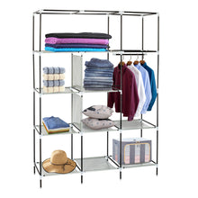 "Load image into Gallery viewer, 69"" Portable Wardrobe Closet"