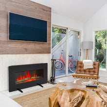 Load image into Gallery viewer, 400W Adjustable Glass Electric Wall Mount Fireplace w/ Remote Control