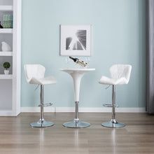 Load image into Gallery viewer, Bar Stool White Faux Leather