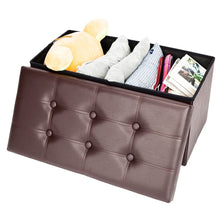 "Load image into Gallery viewer, 30"" Folding Storage Ottoman Bench"