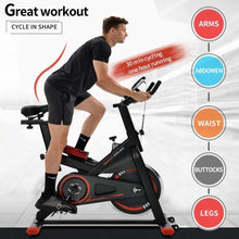 Load image into Gallery viewer, Silent Belt Drive Indoor Chromed Flywheel Cycling Bike With Leather Resistance Pad